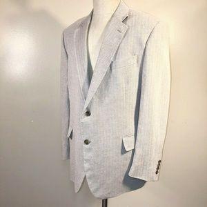 Stafford Signature Linen Cotton Sport Coat 46 R